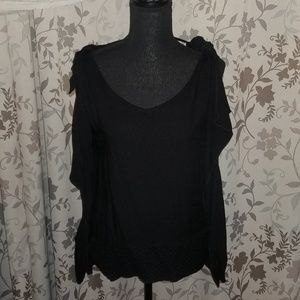 Philosophy sleeveless top with arm draping Size Sm